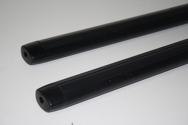 Перекладины для багажника авто с пазами 110см аэродинамика чёрные