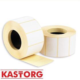 Этикетка термо (для прямой печати) 58мм/40(30)мм (600 шт в рулоне)