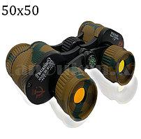 Бинокль с бинокулярный зумом и ночным виденьем тактический дальновидный до 1 000 м 50x50 HD Baikish BAK-4