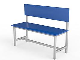 Скамейки для раздевалки со спинкой односторонняя (настил ЛДСП)