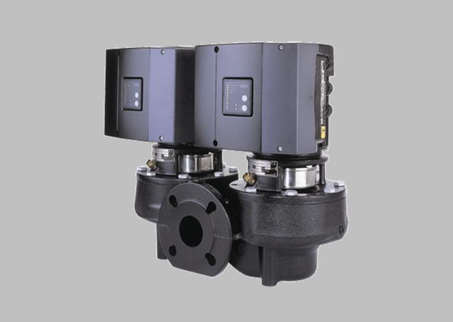 Сдвоенные центробежные насосы «ин-лайн» TPED Серия 1000 со встроенным частотным преобразователем, 2900 об/мин