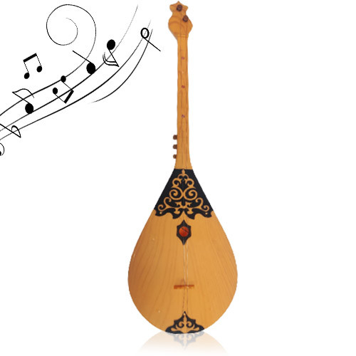 Музыкальная детская игрушка Домбра со струнами на батарейках - фото 1