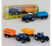 Трактор с прицепом 0488-700 Q *Синий Трактор*