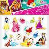Магниты «Принцесса» с героями мультфильмов Disney (12 шт.)