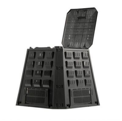 Ящик для компоста (компостер садовый) 420 л Prosperplast Evogreen IKEV420C-S411 чёрный