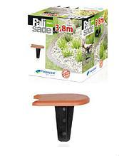 Бордюр для клумбы или сада Prosperplast IPAK1-R624 Palisada терракотовый, 380 см