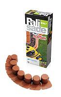 Бордюр пластиковый садовый Prosperplast IPAL7-R624 Palisada, терракотовый, 405 см