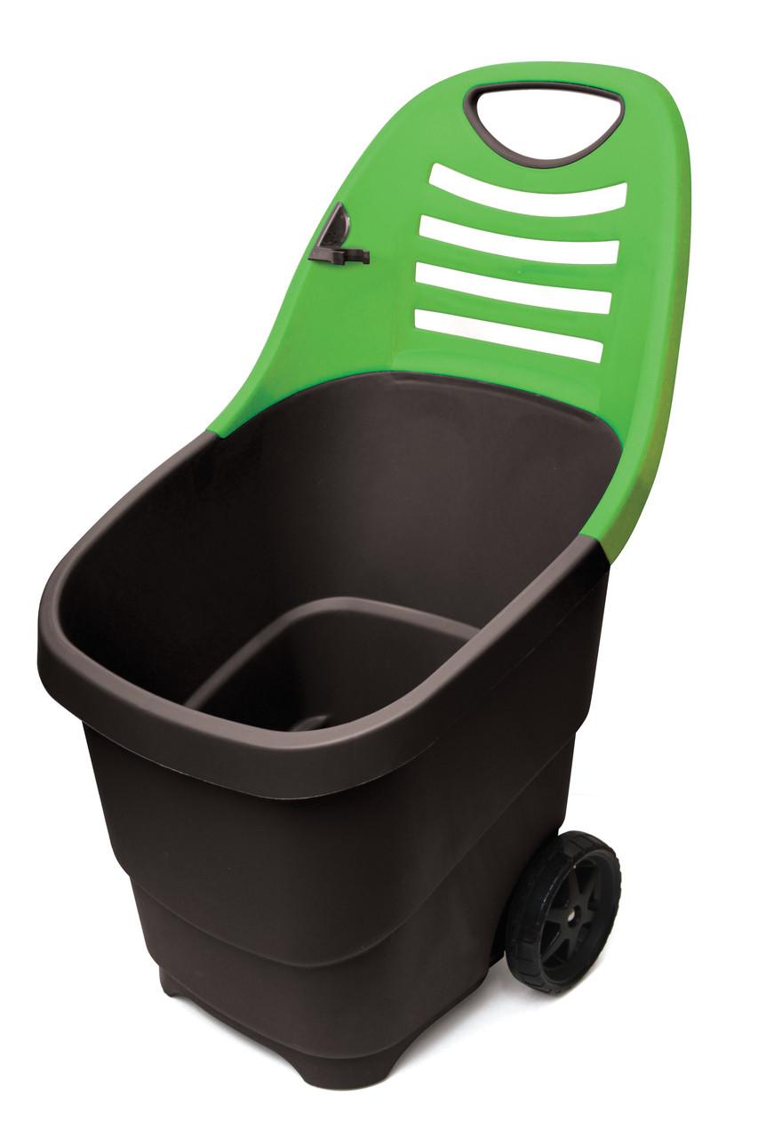 Садовая тележка Helex H810, черный/зеленый 65 л, двухколесная, пластик