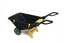 Садовая тележка Helex H815, черный/зеленый 80 л, двухколесная, пластик