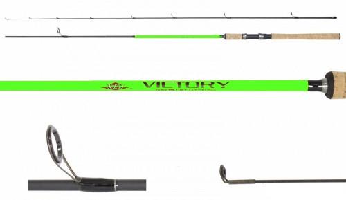 Спиннинг  Victory carbon, ручка пробка 3-12гр Длина 2,4м