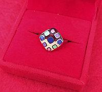 Серебряное кольцо с эмалью 18р