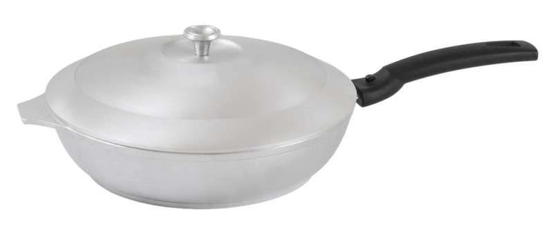 Сковорода 240/60мм со съемной ручкой и крышкой, литой алюминий