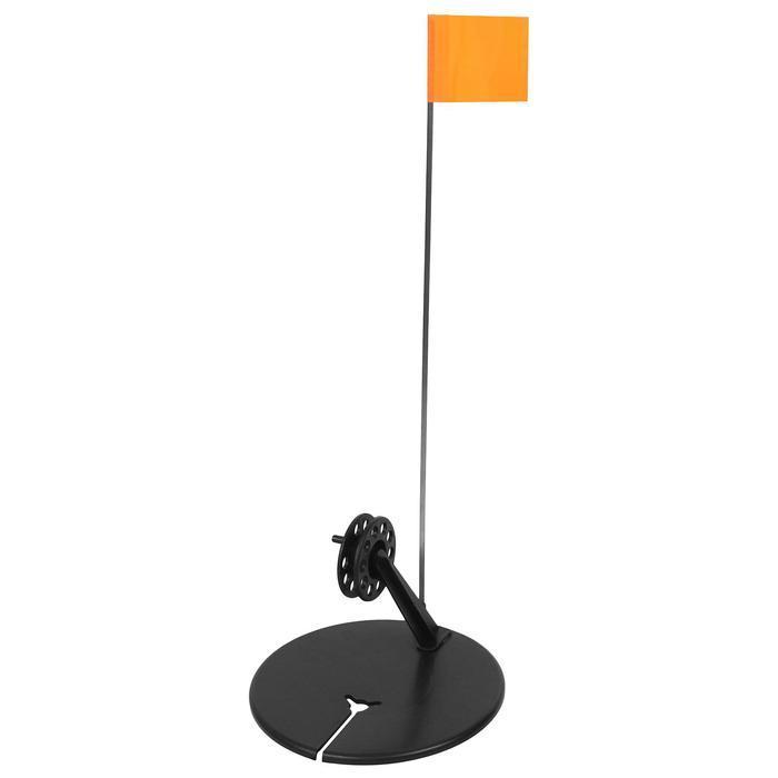 Жерлица с угловой стойкой с катушкой d=65, цвета микс, 1 шт. - фото 1