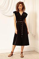 Женское летнее черное платье Nova Line 5948 черный 52р.