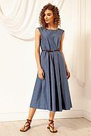 Женское летнее джинсовое синее платье Nova Line 5984 джинс 50р.