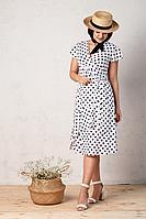 Женское летнее из вискозы белое большого размера платье Angelina 449 белый 46р.
