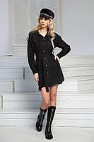 Женское осеннее джинсовое черное платье DoMira 01-594 черный 42р.