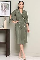 Женская летняя зеленая платье и ремень Мода Юрс 2650 зеленый 48р.