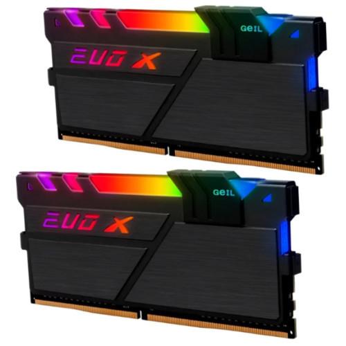Оперативная память 16GB Kit (2x8GB) GEIL DDR4 EVO X II Black с RGB GEXSB416GB2400C16DC