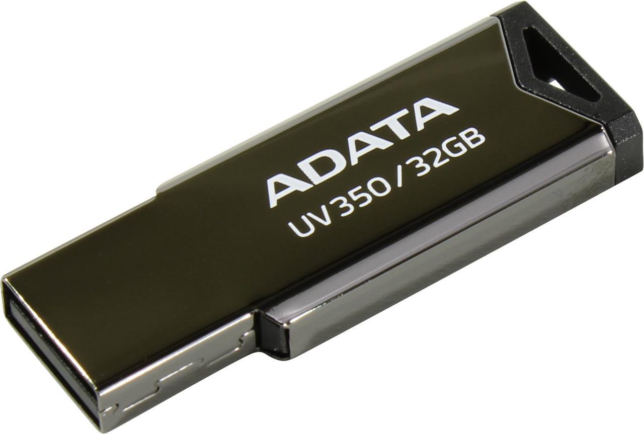 Флешка ADATA DashDrive AUV350, 32GB BLACK