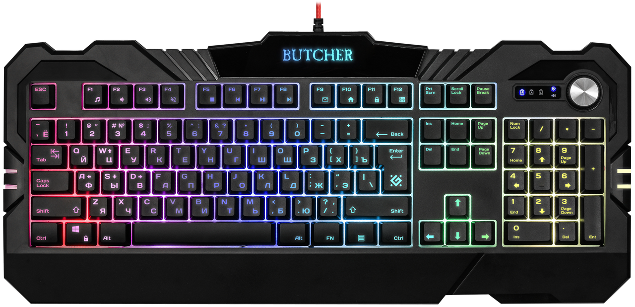 Клавиатура проводная игровая Defender Butcher GK-193DL
