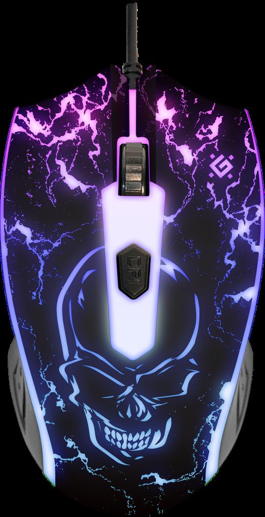 Мышь проводная игровая оптическая Defender Overmatch GM-069 (черный),