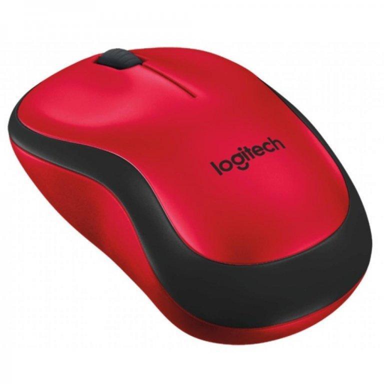 Мышь беспроводная Logitech Wireless Mouse M220 SILENT  Red 910-004880