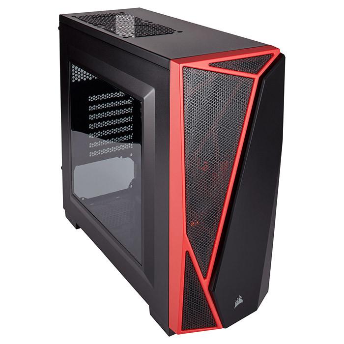 Компьютерный корпус Corsair Carbide Series SPEC 04 Черный/красные вставки