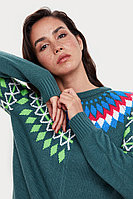 Джемпер женский Finn Flare, цвет темно-зеленый, размер XL