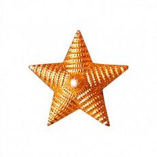Звёзды на погоны / красное золото -1,2см
