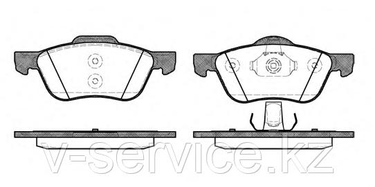 Тормозные колодки YOTO G-431(MD 1256)(REMSA 844.00)