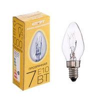 Лампа накаливания для ночников 'Старт', Е10, 7 Вт, 230 В