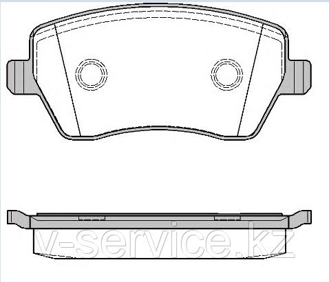 Тормозные колодки YOTO G-432(MD 1261)(REMSA 987.00)