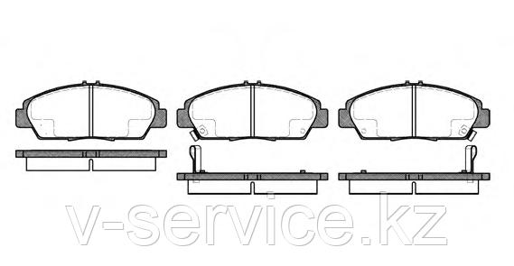 Тормозные колодки YOTO G-452(MD 5077M)(REMSA 406.02)