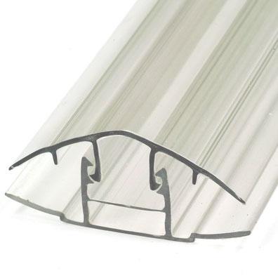 Профиль поликарбонатный соединительный разъемный (HCP)  6 метров (6 мм-16 мм) комплект