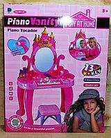 661-36 Piano vanity трюмо пианино со стулом 12моделей, на батар 58*46см, фото 1