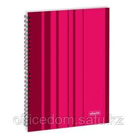 Бизнес-тетрадь на спирали Attache Сoncept, А4, 120 л., твердый переплет, клетка, бордовый