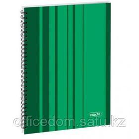 Бизнес-тетрадь на спирали Attache Сoncept, А4, 120 л., твердый переплет, клетка, зеленый