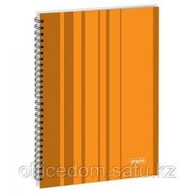 Бизнес-тетрадь на спирали Attache Сoncept, А4, 120 л., твердый переплет, клетка, оранжевый