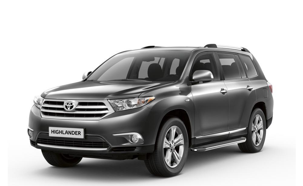 """Пороги """"Premium"""" Toyota Highlander (2007-2014)"""