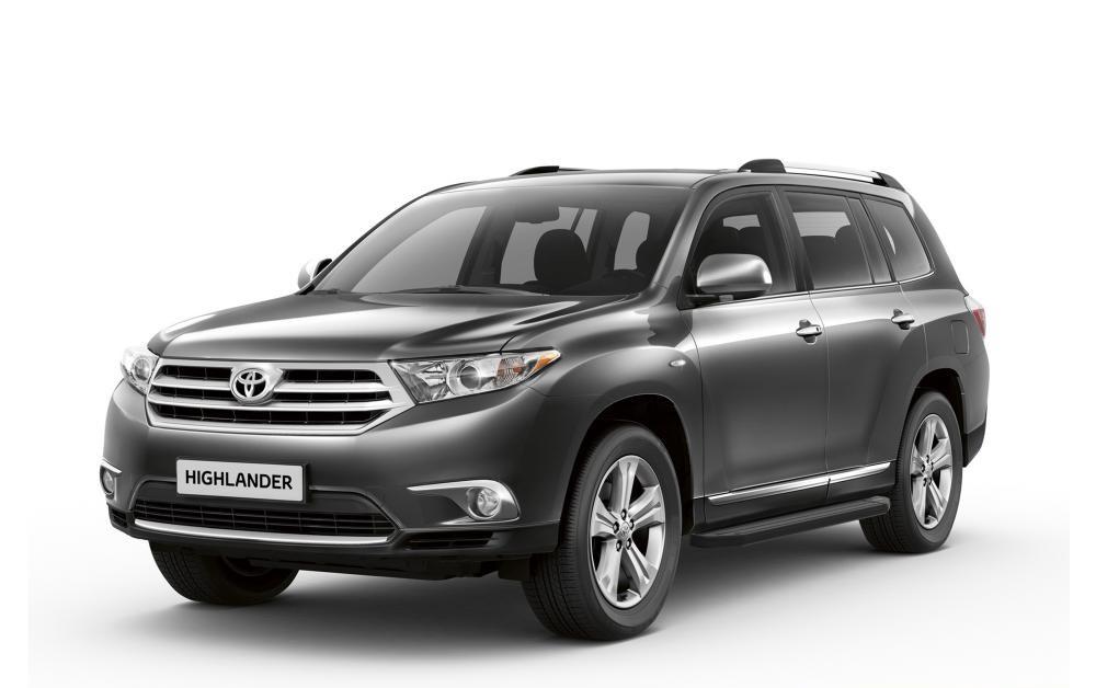 """Пороги """"Premium-Black"""" Toyota Rav 4 (2006-2012)/Highlander (2007-2014)"""