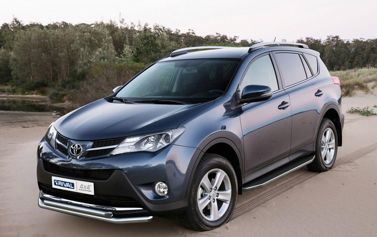 "Пороги ""Premium"" Toyota Rav 4 Long (2006-2013)"