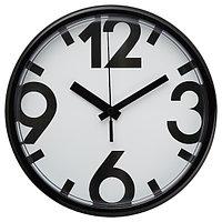 Часы настенные ЮККЕ черный, 23 см ИКЕА, IKEA