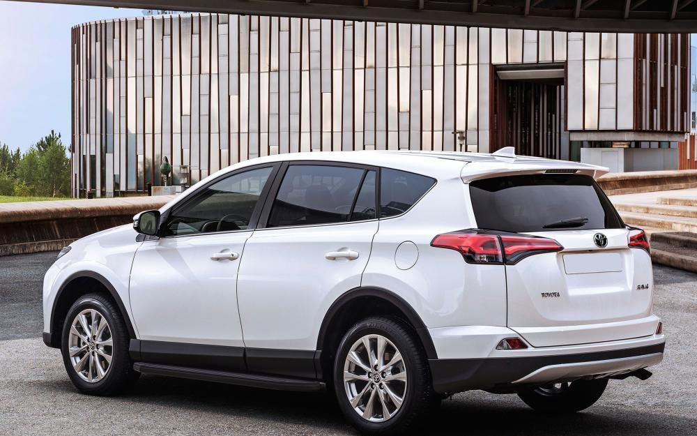 """Пороги """"Premium-Black"""" Toyota Rav 4 (2015-)"""