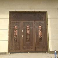 Дверь двупольная с зашивкой
