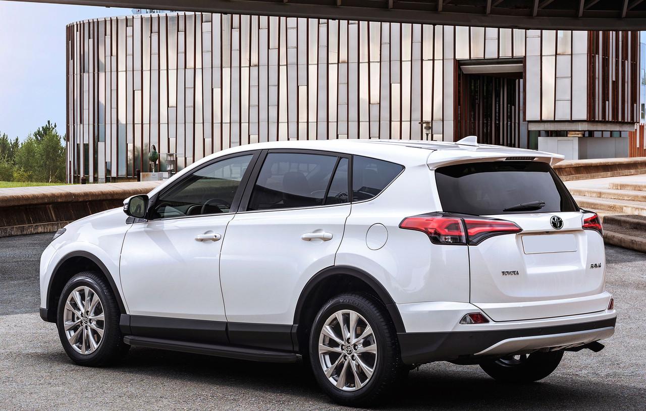 """Пороги """"Premium-Black"""" Toyota Rav 4 (2013-2015)"""