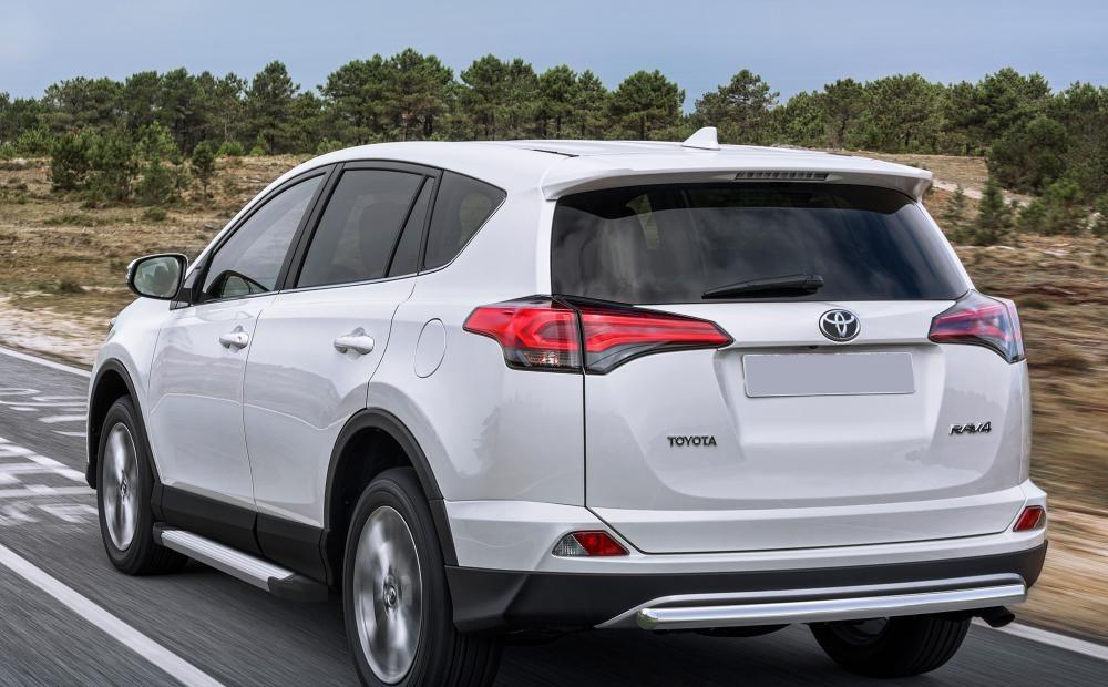 """Пороги """"Silver"""" Toyota Rav 4 (2015-2021)"""