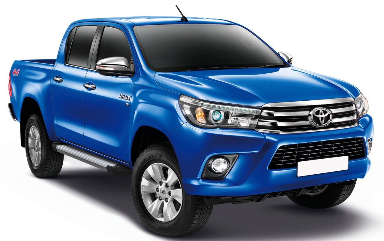 "Пороги ""Silver"" Toyota Hilux (2015-)"