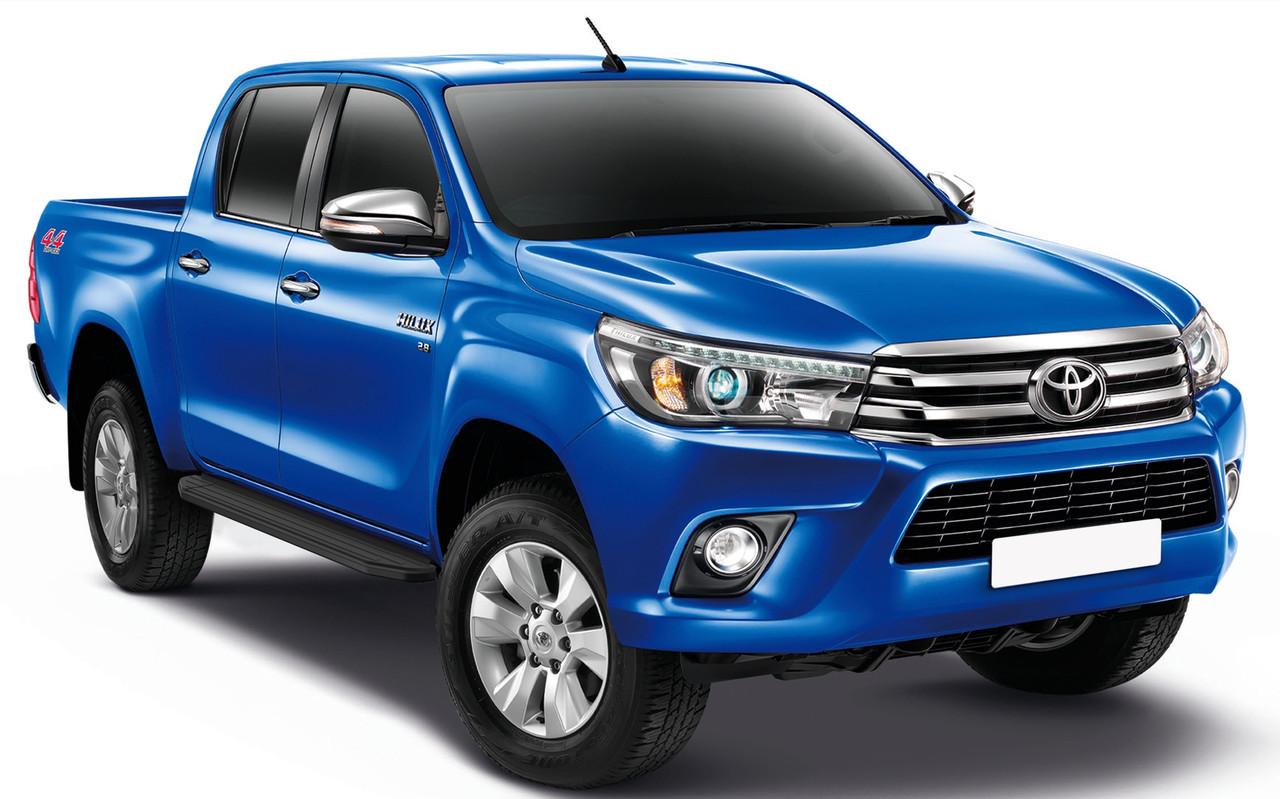 """Пороги """"Premium-Black"""" Toyota Hilux (2015-2021)"""