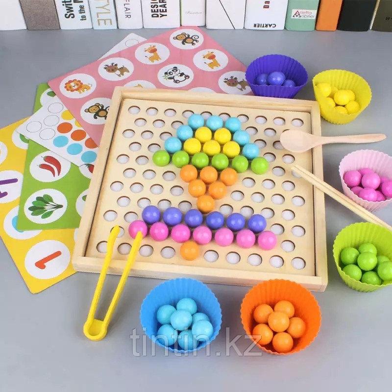 Деревянная шариковая мозаика + игра мемори
